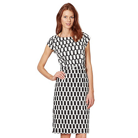 Principles by Ben de Lisi - Designer black tiled dress