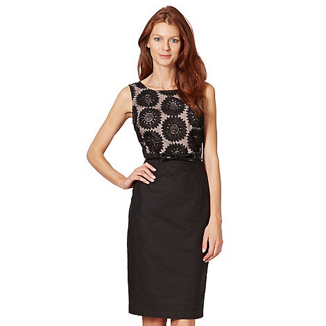 Principles by Ben de Lisi - Designer black daisy organza shift dress