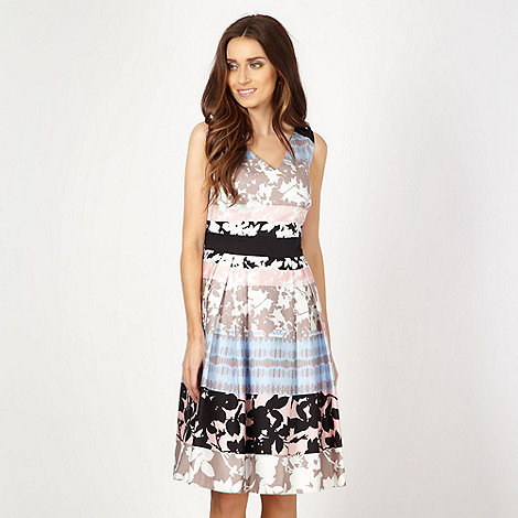 Principles by Ben de Lisi - Designer blue floral striped prom dress