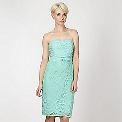 Principles by Ben de Lisi - Designer pale green bandeau lace dress