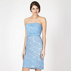 Principles by Ben de Lisi - Designer light blue bandeau lace dress