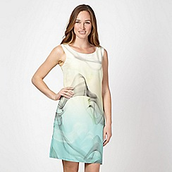 Principles Petite by Ben de Lisi - Petite designer light yellow swirl ombre dress