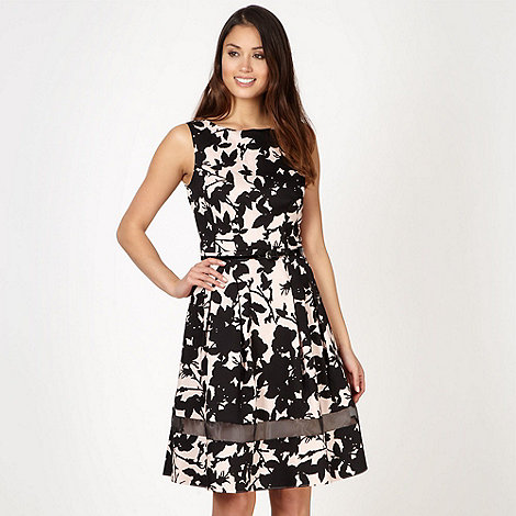 Principles by Ben de Lisi - Designer pale pink shadow floral dress