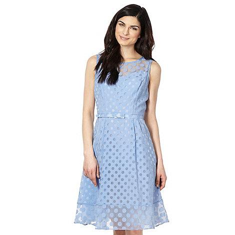 Principles by Ben de Lisi - Designer blue spotted burnout dress
