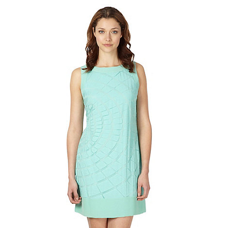 Principles by Ben de Lisi - Designer pale green burn out shift dress