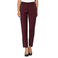Principles by Ben de Lisi - Designer wine PU trim tapered trousers