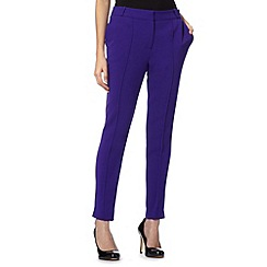 Principles by Ben de Lisi - Designer purple tapered leg crepe trousers