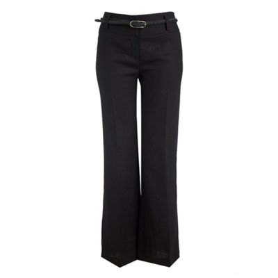 Principles by Ben de Lisi Black belted linen trousers product image