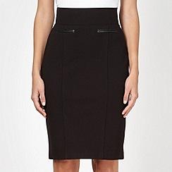 Principles Petite by Ben de Lisi - Petite designer black slim and trim skirt