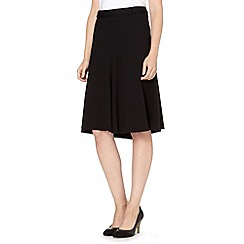 Principles by Ben de Lisi - Designer black D-ring belted skirt