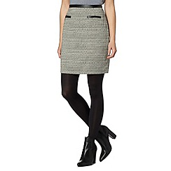 Principles by Ben de Lisi - Designer black weave checked skirt