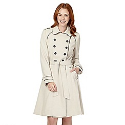 Principles Petite by Ben de Lisi - Petite natural piped double breasted military coat