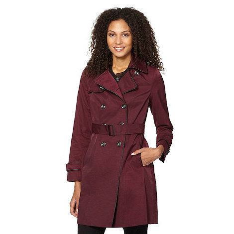 Principles by Ben de Lisi - Designer wine PU piped mac jacket