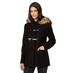 Principles by Ben de Lisi - Designer black buckle duffle coat