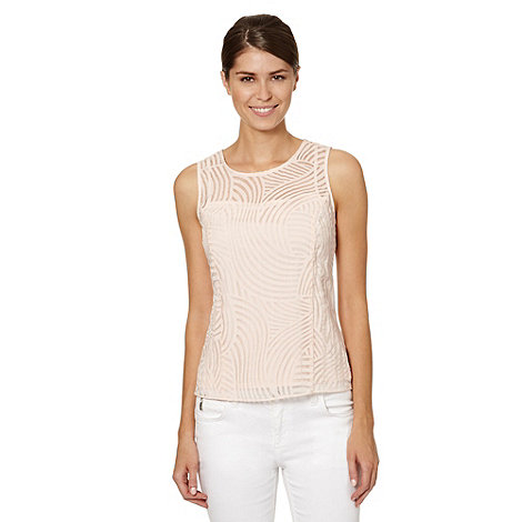 Principles by Ben de Lisi - Designer pale pink wave burnout top