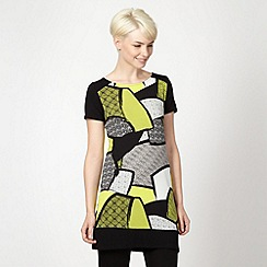 Principles Petite by Ben de Lisi - Petite designer bright green mixed print tunic
