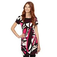 Designer bright pink mixed shape print tunic