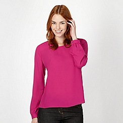 Principles by Ben de Lisi - Designer bright pink quilted shoulder top