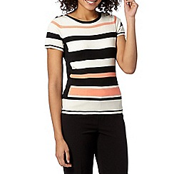 Principles by Ben de Lisi - Designer bright orange contrast stripe jumper