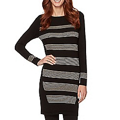 Principles by Ben de Lisi - Designer black spotted stripe tunic
