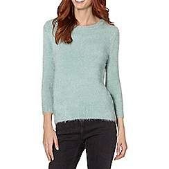 Principles by Ben de Lisi - Designer pale green textured eyelash jumper
