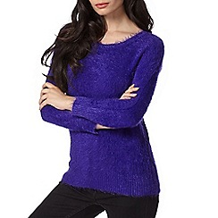 Principles by Ben de Lisi - Designer purple eyelash textured jumper