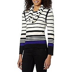Principles Petite by Ben de Lisi - Peite designer black striped snood jumper