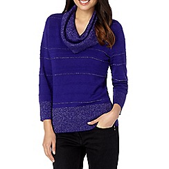 Principles by Ben de Lisi - Designer purple glitter cowl neck jumper