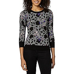 Principles by Ben de Lisi - Designer purple geo print jumper
