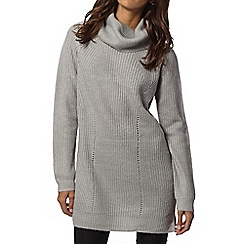 Principles by Ben de Lisi - Designer light grey high neck tunic jumper