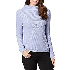 Principles by Ben de Lisi - Designer lilac knit high neck jumper