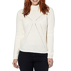Principles by Ben de Lisi - Designer ivory chunky high neck jumper