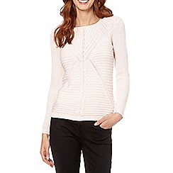 Principles by Ben de Lisi - Designer pale pink chevron knit jumper