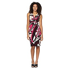 Principles Petite by Ben de Lisi - Petite designer bright pink shape print jersey dress