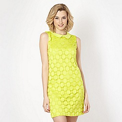 Principles by Ben de Lisi - Designer bright green spotted lace dress