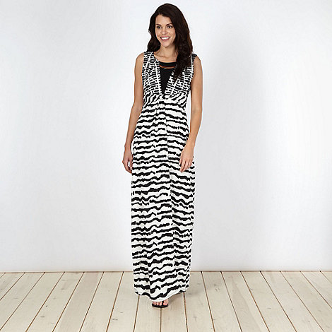 Principles by Ben de Lisi - Designer black tribal jersey maxi dress