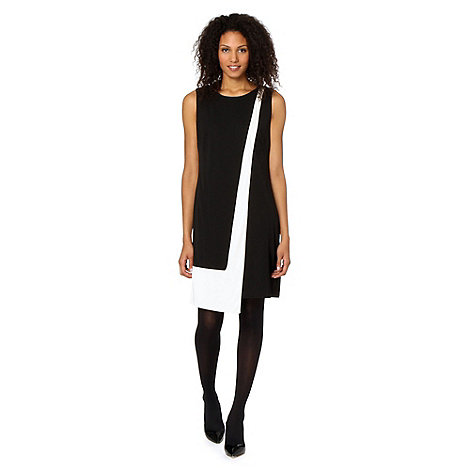Principles by Ben de Lisi - Designer black colour block drape dress