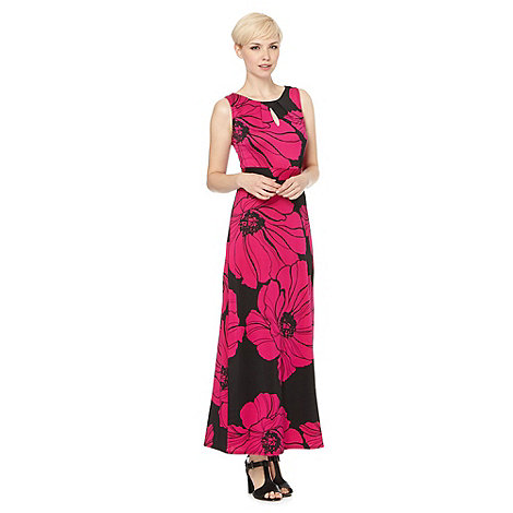 Principles by Ben de Lisi - Designer bright pink poppy maxi dress