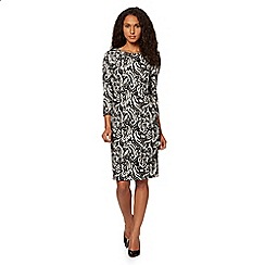 Principles by Ben de Lisi - Designer black jacquard printed dress