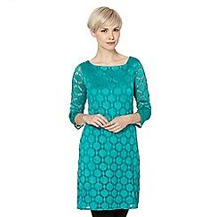Principles by Ben de Lisi - Designer green spot lace tunic dress