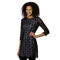 Principles by Ben de Lisi - Designer black triangle lace tunic