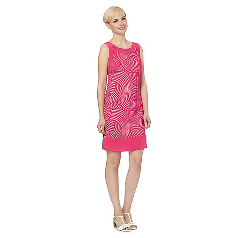 Principles by Ben de Lisi - Designer bright pink burnout wave dress