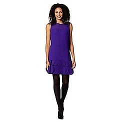 Principles Petite by Ben de Lisi - Petite designer purple applique circle hem dress