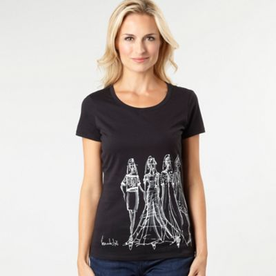 Black lady print t-shirt