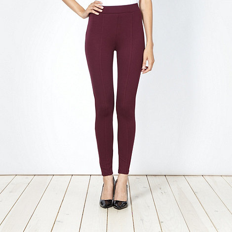 Principles by Ben De Lisi - Designer winter berry seamed leggings