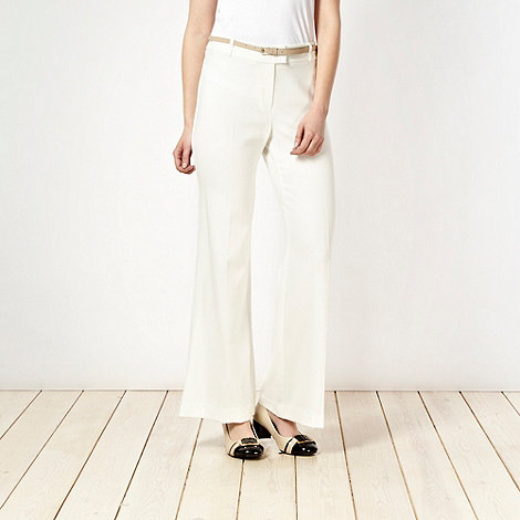 Principles by Ben de Lisi - Ivory belted trousers