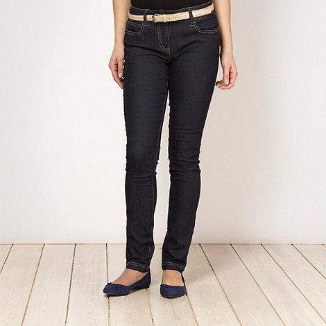 Principles by Ben de Lisi - Designer dark blue belted skinny jeans