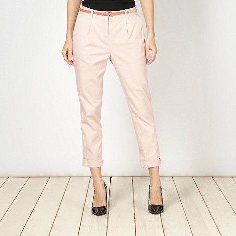 Principles by Ben de Lisi - Designer light pink belted chinos