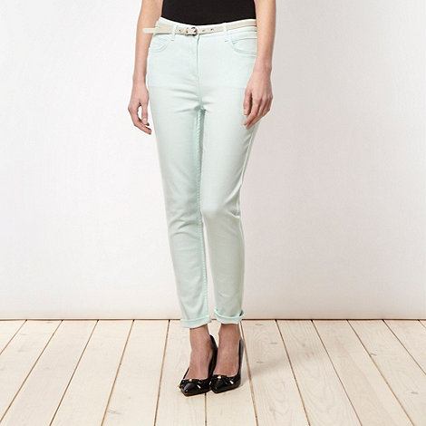 Principles by Ben de Lisi - Designer light green belted skinny jeans