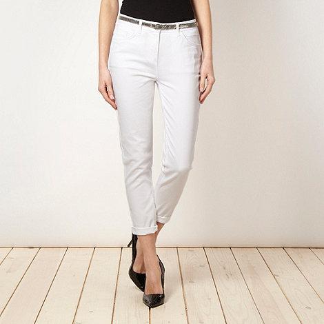 Principles by Ben de Lisi - Designer white belted skinny jeans